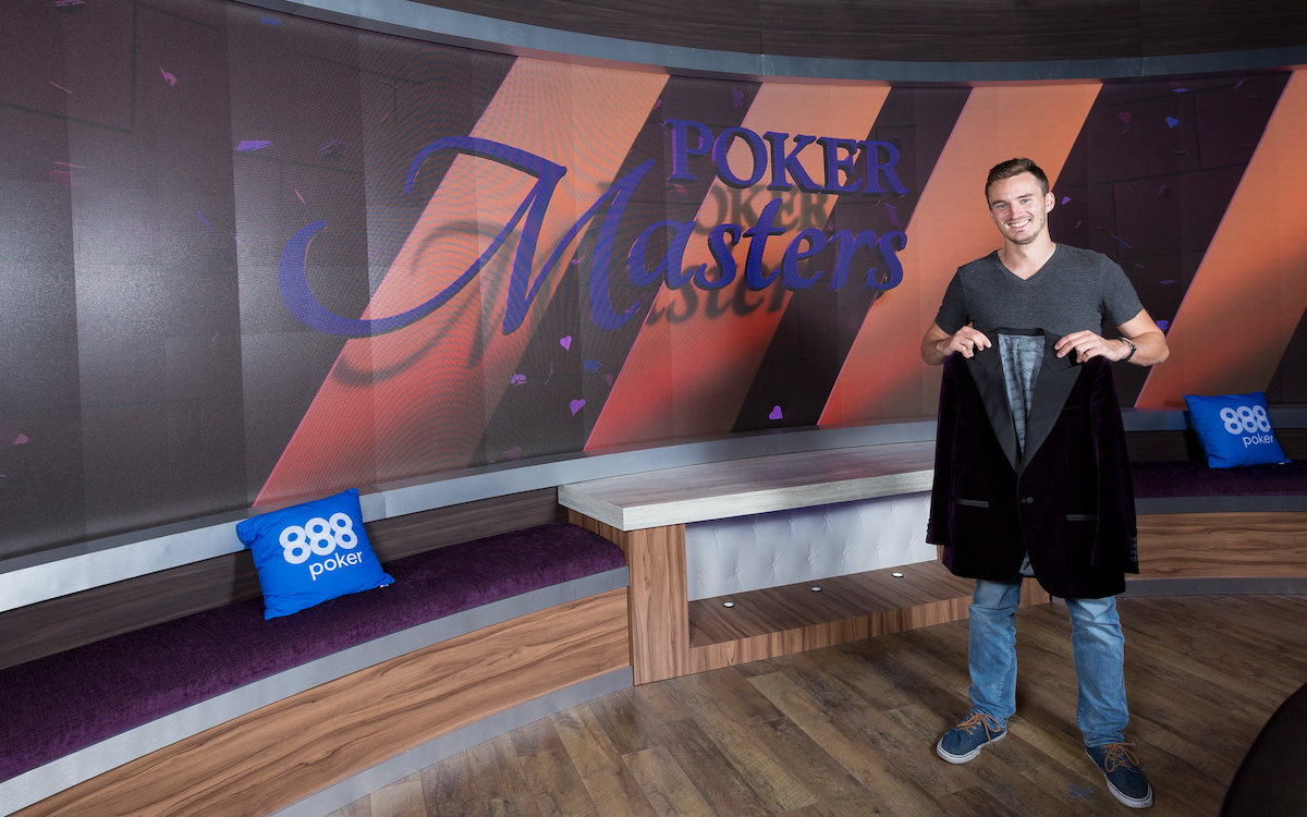 Steffen Sontheimer after winning the 2017 Poker Masters Purple Jacket.