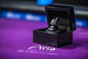 Back in May, Justin Bonomo won the Super High Roller Bowl and took home this championship ring.