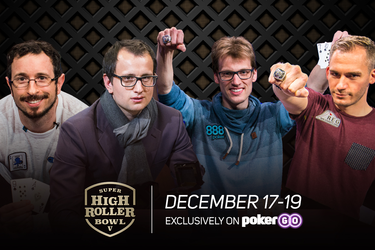 Super High Roller Bowl champions Brian Rast, Rainer Kempe, Christoph Vogelsang and Justin Bonomo set to compete today in Super High Roller Bowl V.
