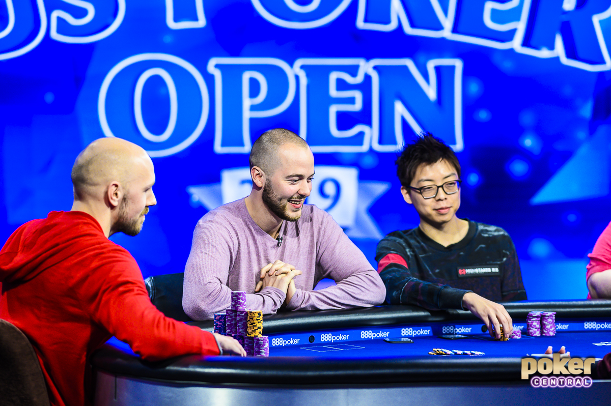 Stephen Chidwick, Sean Winter, and Joseph Cheong three-handed for the title in Event #1 of the U.S. Poker Open.