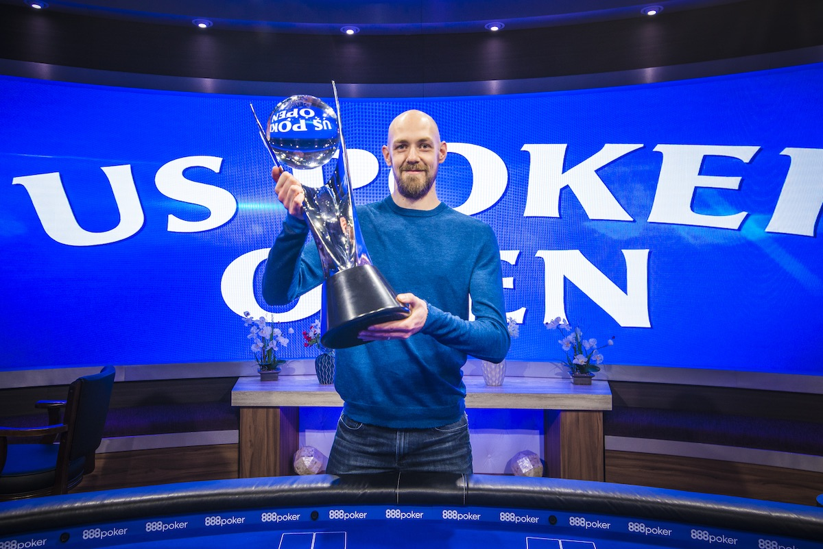 Stephen Chidwick after winning the 2018 U.S. Poker Open.