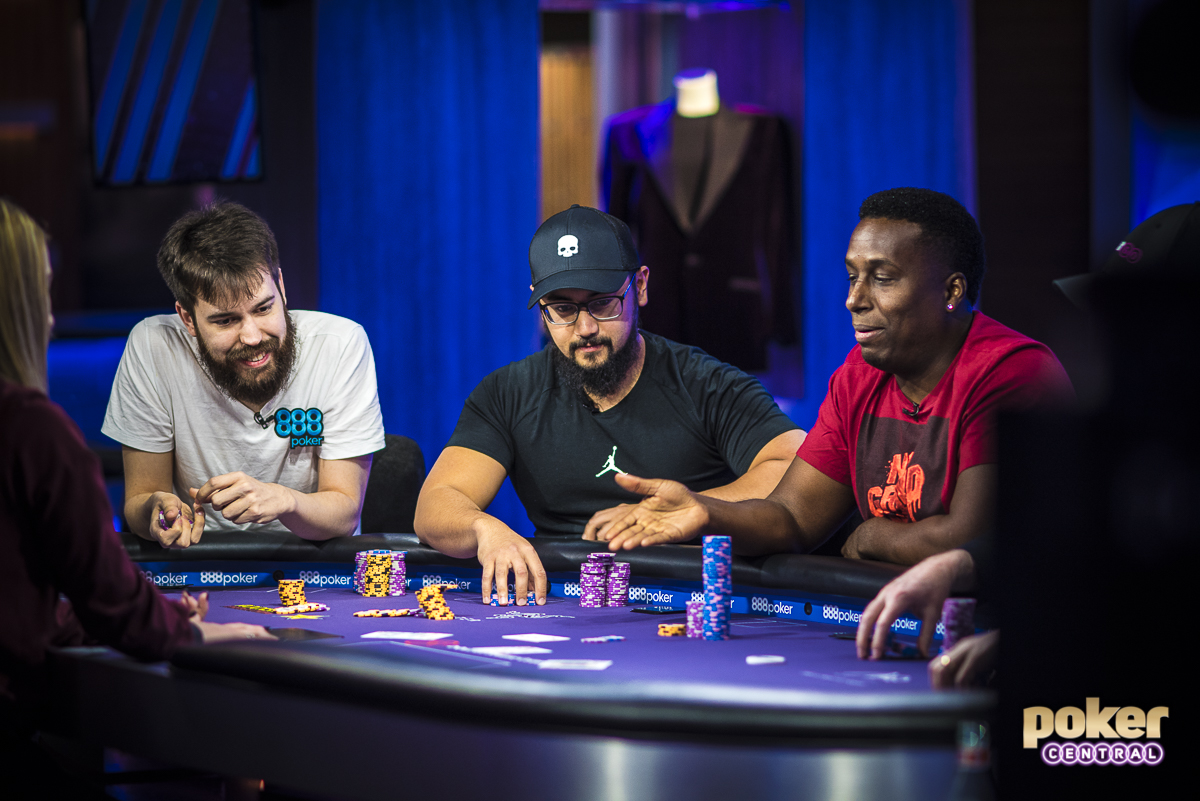Three's a Party: The first hand of the day was very indicative of how the entire tournament played out, as Dominik Nitsche, Ryan Tosoc, and Maurice Hawkins all found themselves all-in pre flop. Hawkins, despite being the shortest stack, would win the hand with pocket kings, while Tosoc scooped the side pot, meaning all three-players would remain in contention for the title.