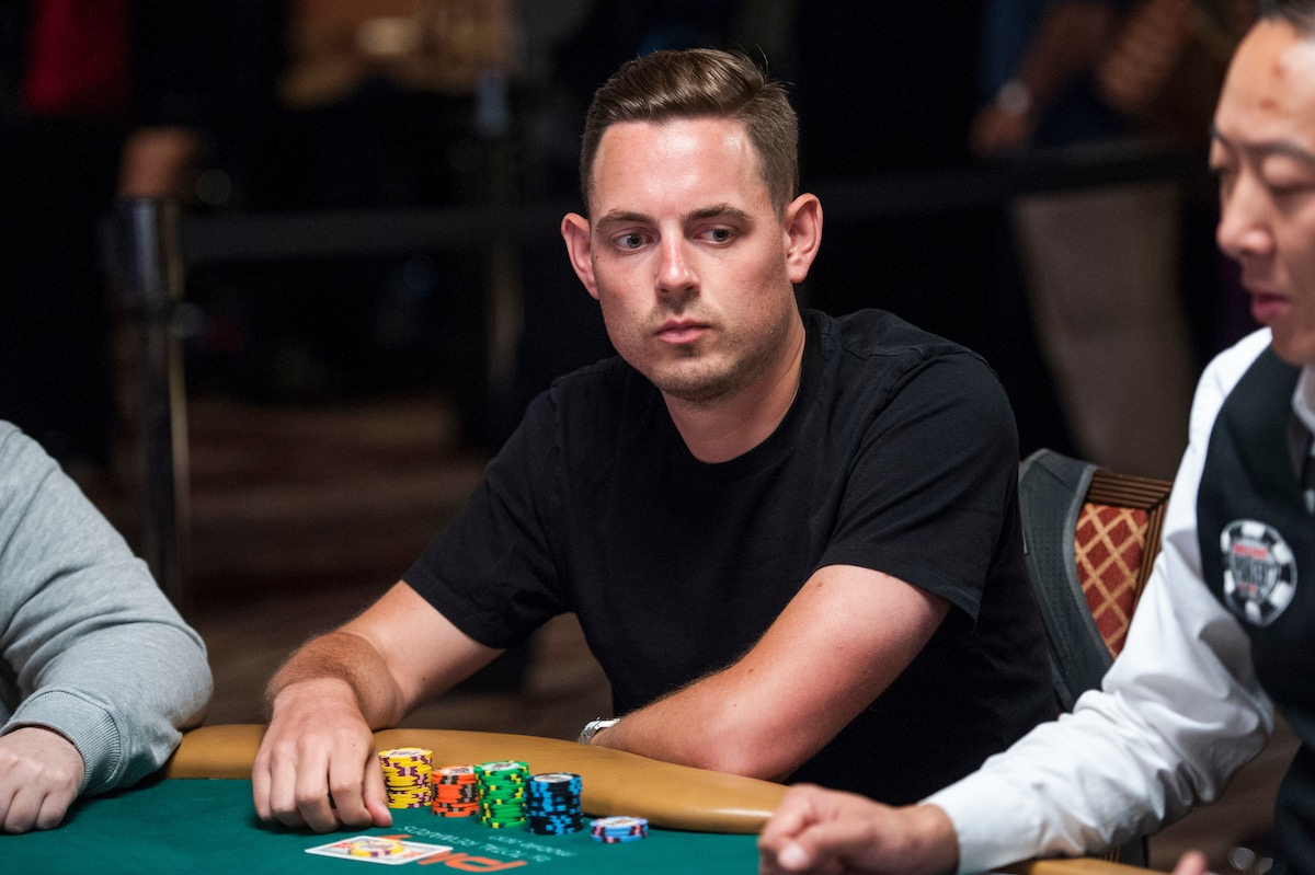 Toby Lewis in action during the 2018 World Series of Poker. (Photo: PokerPhotoArchives.com)