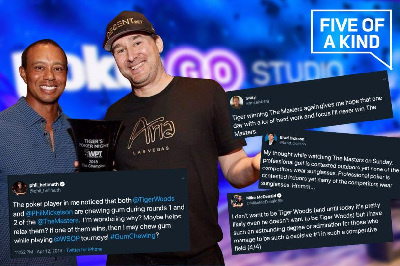 The world of poker truly enjoyed Masters Sunday as Phil Hellmuth and many others chimed in on Tiger Woods' 5th. (Image: Phil Hellmuth Twitter)