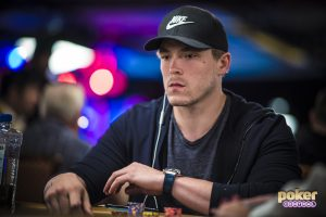 William Foxen in action during the 2018 World Series of Poker.