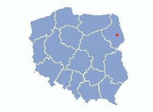 Location of Bialystok on the map of Poland
