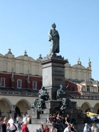 Monument of Adam Mickiewicz, one of the greatest Polish Poets (Krakow)