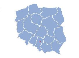 Location of Czestochowa on the map of Poland