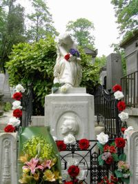 The grave of Chopin in Pere Lachaise Cemetery, Paris