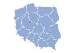 Location of Gniezno on the map of Poland