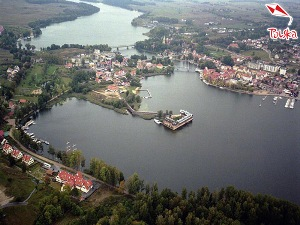 Panorama of Mikołajki in the Great Masurian Lakes District