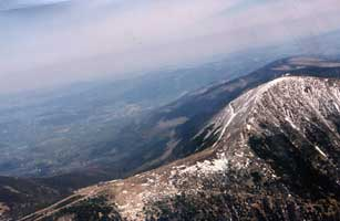 Aerial view of Karkonosze Mountains