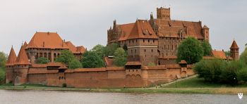 Castle of Teutonic knights in Malbork, the largest Gothic fortress in Europe.