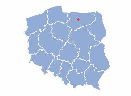 Location of Olsztyn on the map of Poland