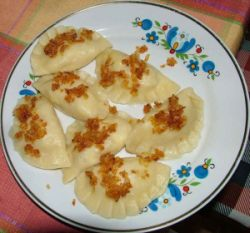 Pierogi can be made with potatoes, cheese or even peach