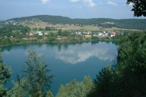 Small town by Turkusowe Lake on Uznam Island