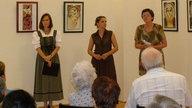 Képzőművészeti Szalon - Prágainé Mágori Aranka üvegfestmény-kiállításának megnyitója