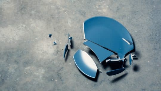 broken plates blue liability