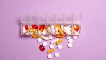 pills in containter