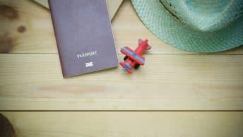 passport and plane