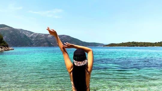 woman in greece travel
