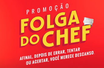 Promoção Guaraní Folga do Chef