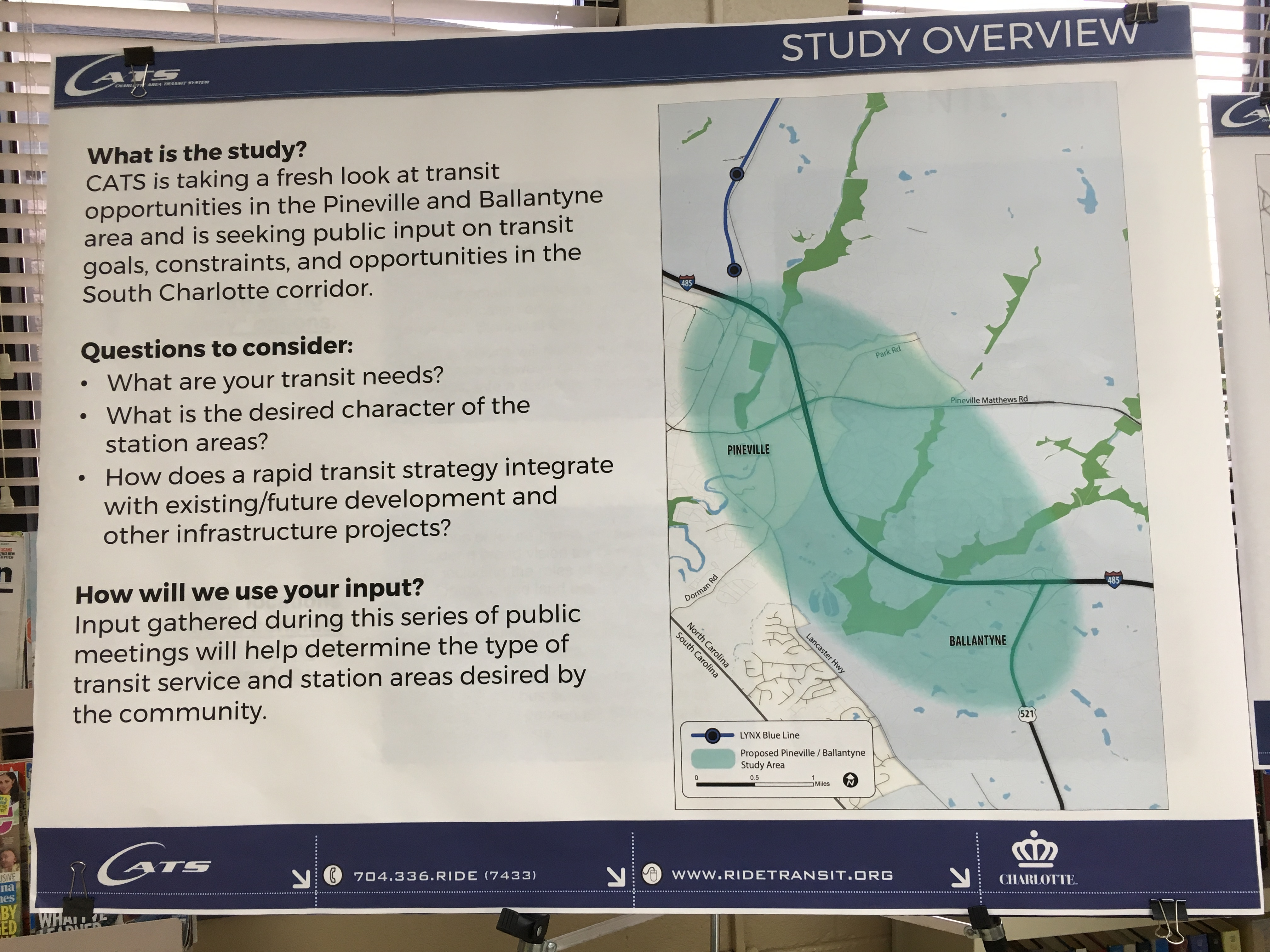 2030 Transit System Study Pineville and Ballantyne