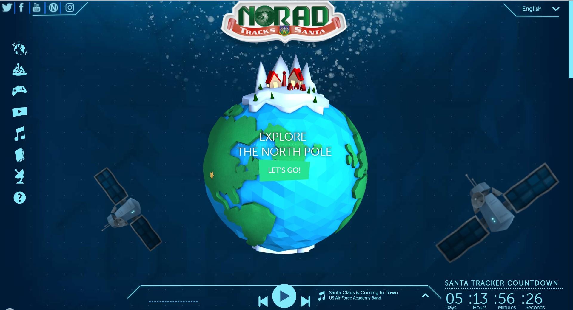 NORAD TRACKS SANTA!