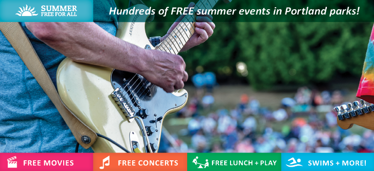 Free concerts, movies and swimming in Portland's Parks