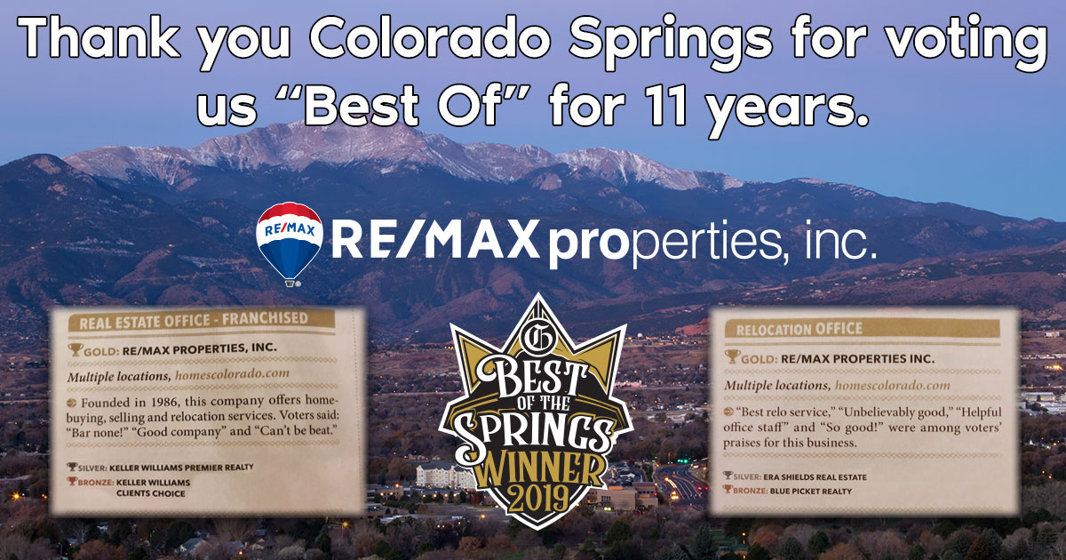 """Thank you Colorado Springs for voting us """"Best Of"""" for 11 straight years!"""