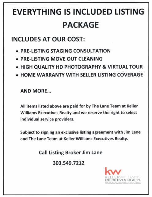 Our Excluisive Everything's Included Listing Package