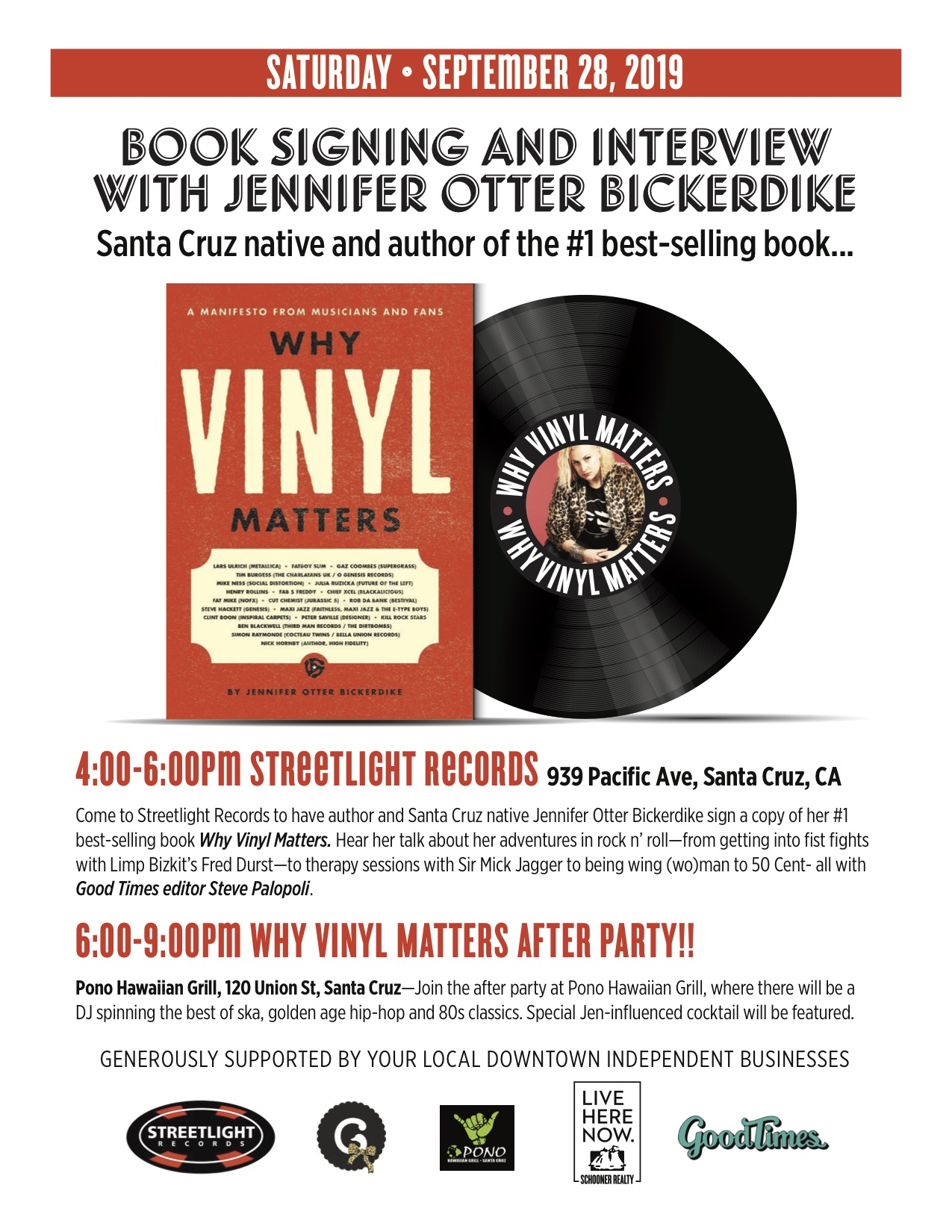 Book Signing and Interview with Jennifer Otter Bickerdike
