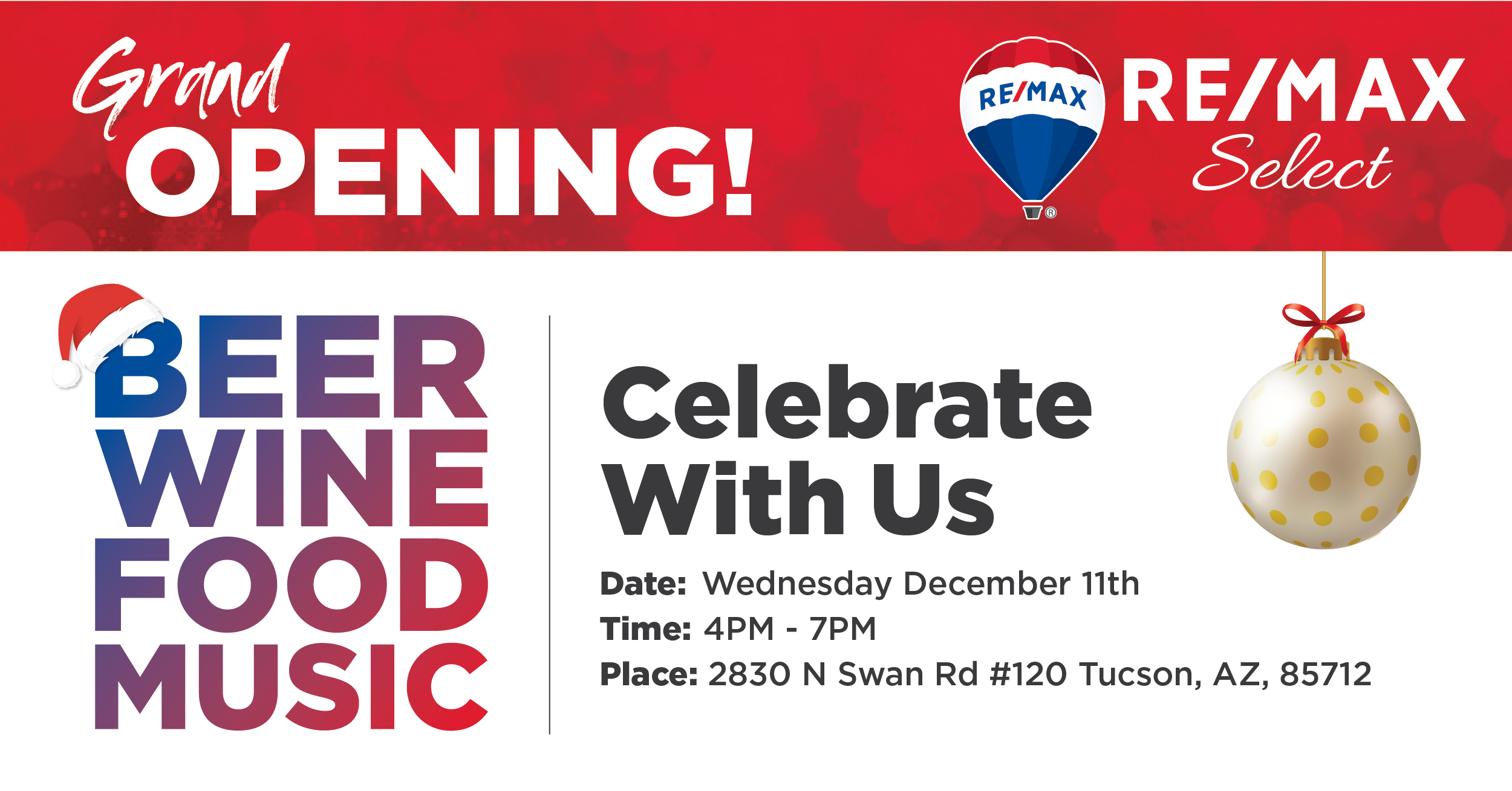 GRAND OPENING PARTY DEC 11, 2019