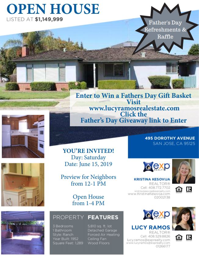 Open House and Father's Day Refreshments & Raffle! This Father's Day, 12 - 1 PM