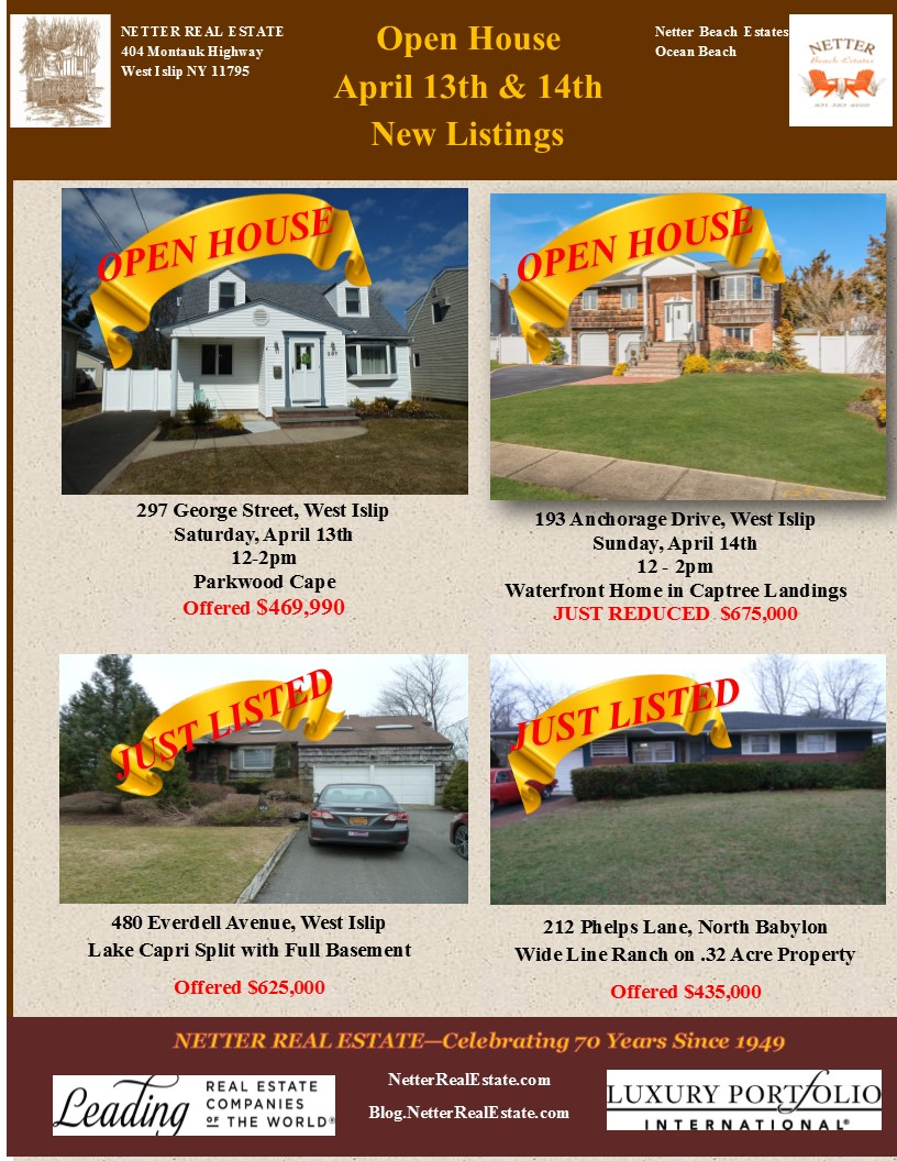New Listings & Open Houses Hosted by Richard Bocchieri, Netter Real Estate