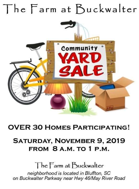 11/9 HUGE Community Yard Sale