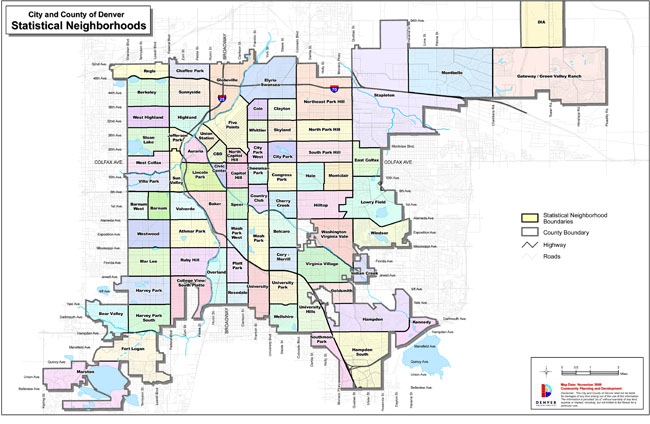 Denver Neighborhoods Map