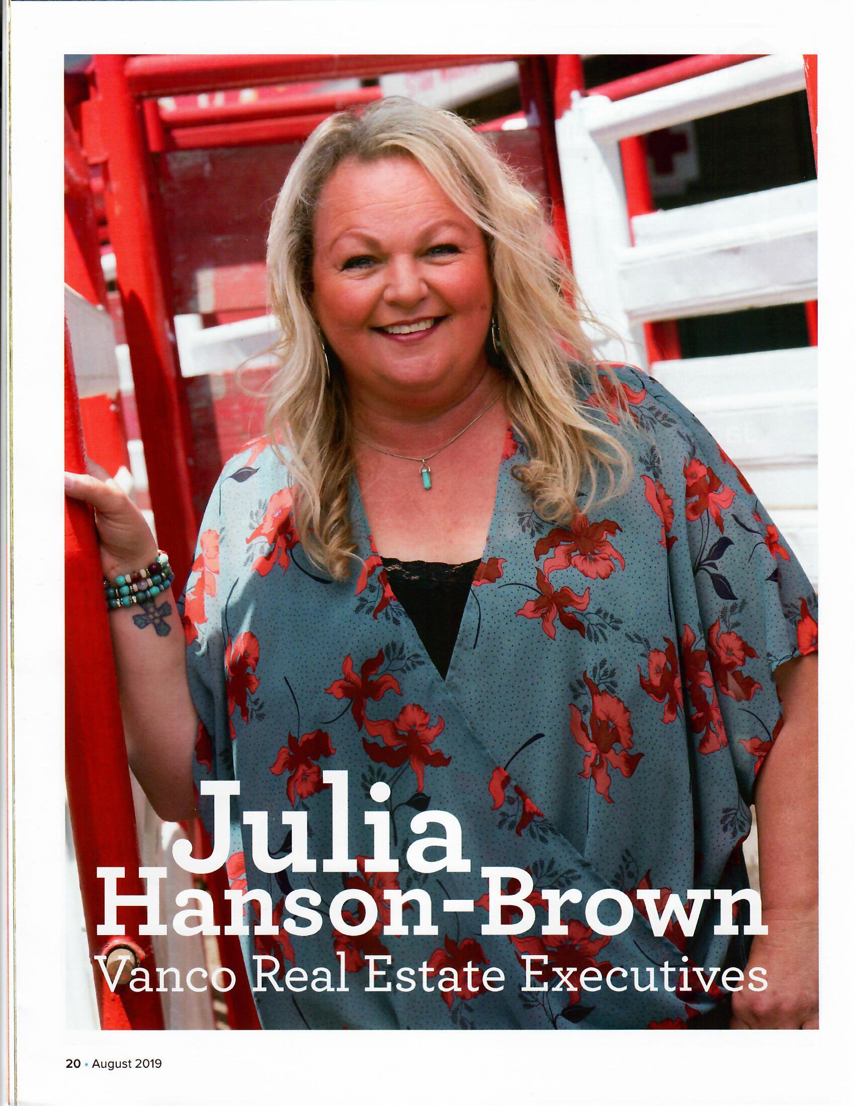 Special Feature: Julia Hanson-Brown, Realtor - DRE #01458897