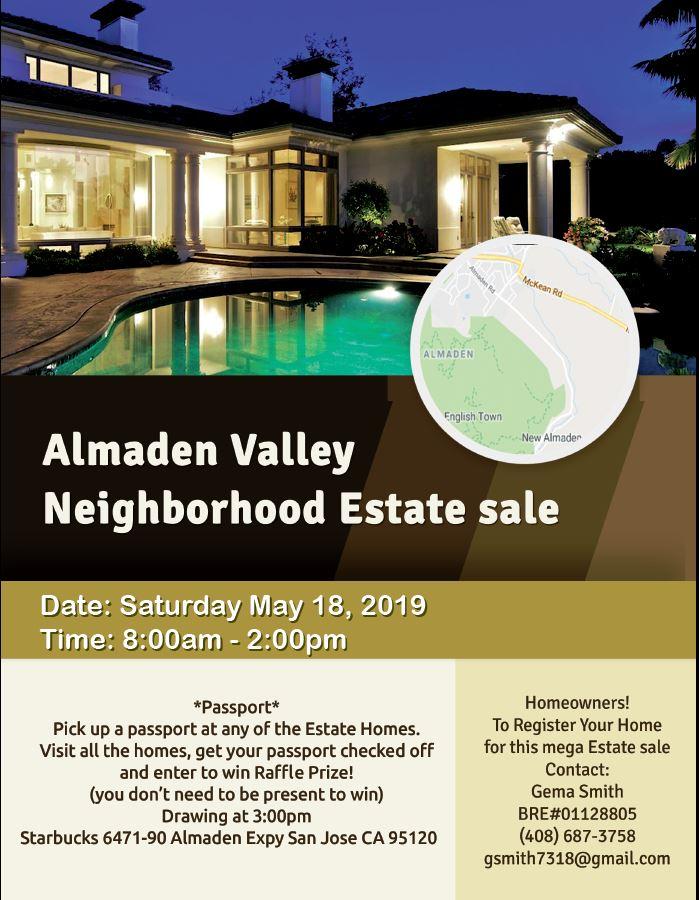 Almaden Valley Neighborhood Estate Sale