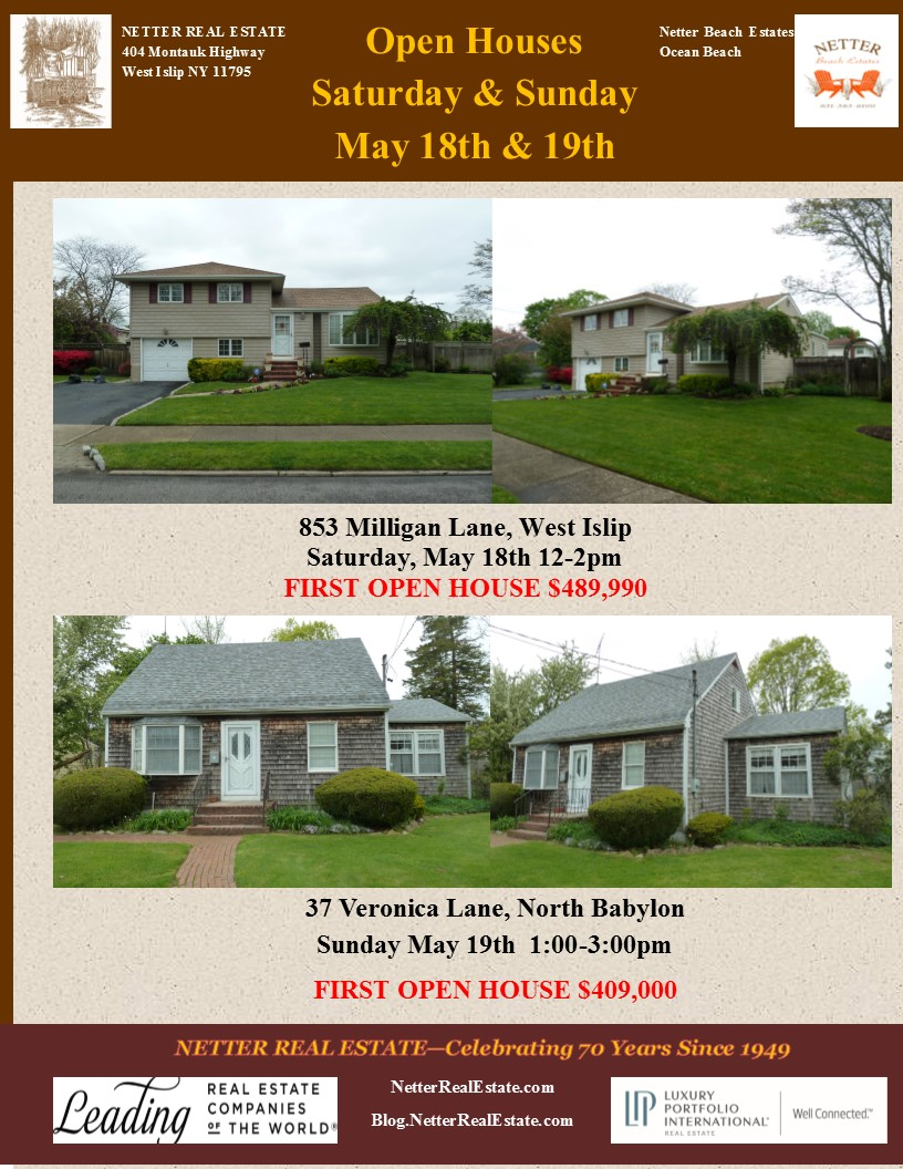 Open Houses hosted by Richard Bocchieri, Netter Real Estate this weekend