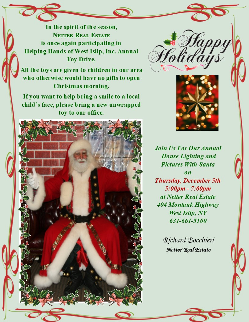 Netter Real Estate's Annual House Lighting and Visit From Santa!