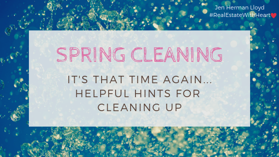It's That Time Again...Spring Cleaning