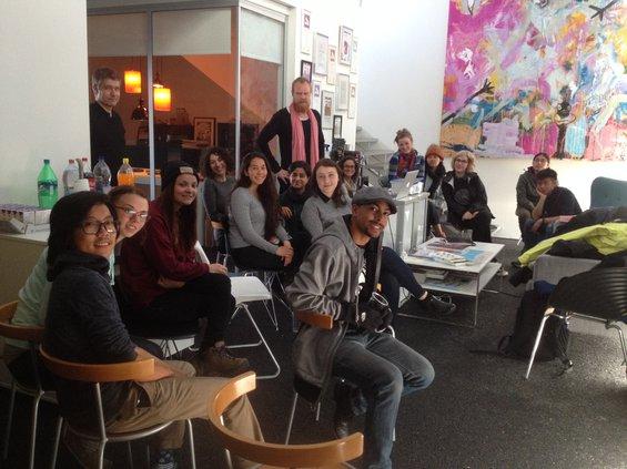 CCA students  at master class with interaction designer, Nils Wiberg, at Gagarin Reykjavik