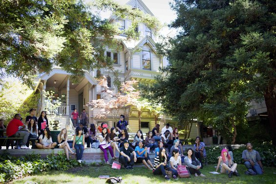 Students in front of Macky Hall