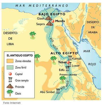Ubicación Geográfica mapa egipto