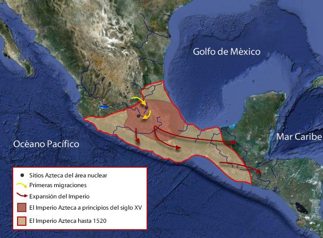 mapa aztecas