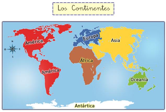 Los Continentes Y Océanos