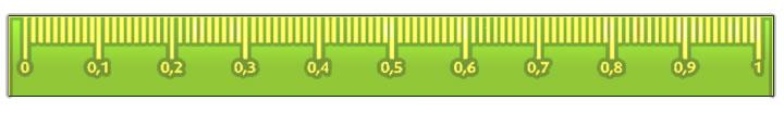 Números decimales en la recta numérica