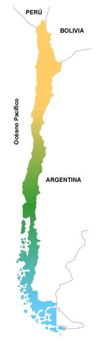 Mapa del territorio antártico chileno (Ministerio de Defensa)