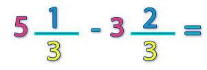 números mixtos que tienen el mismo denominador